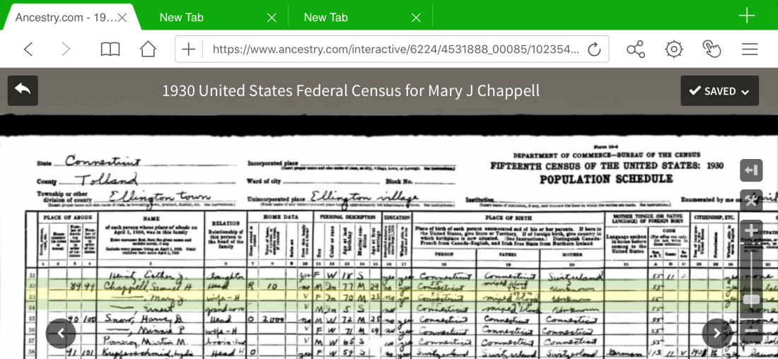 1930 Federal Census S_M Chappell