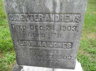 Tombstone C Dexter Andrews and Lovina