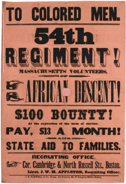 To Colored Men. 54th Regiment of African Descent